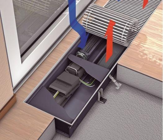 фото электрического внутрипольного конвектора