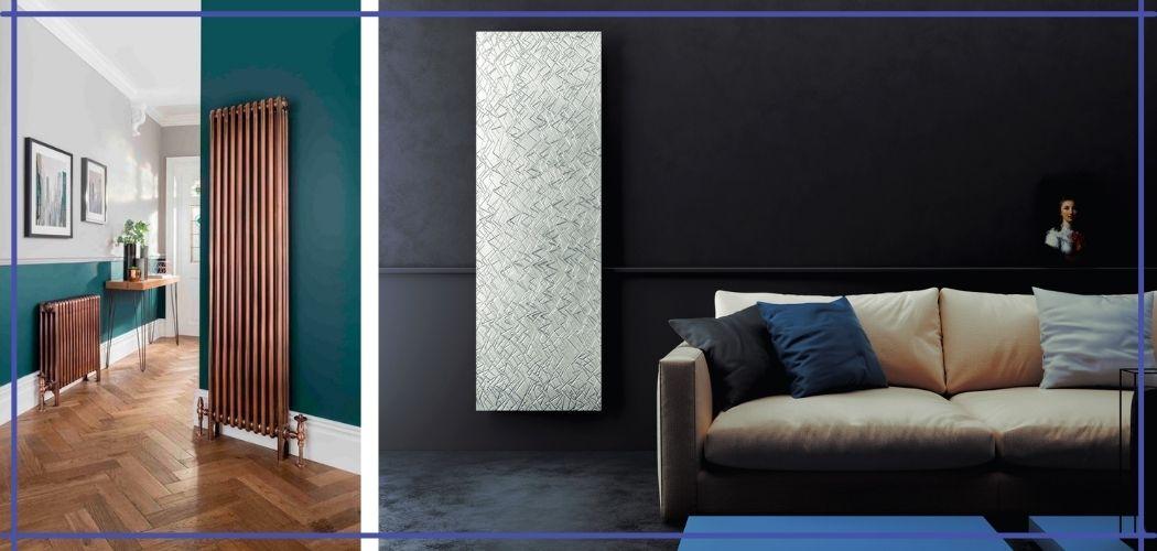 фото красивых дизайнерских радиаторов в интерьере