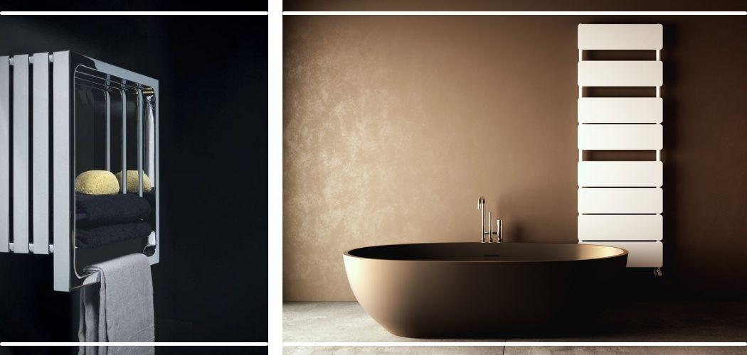 фото дизайнерских полотенцесушителей в интерьере ванной
