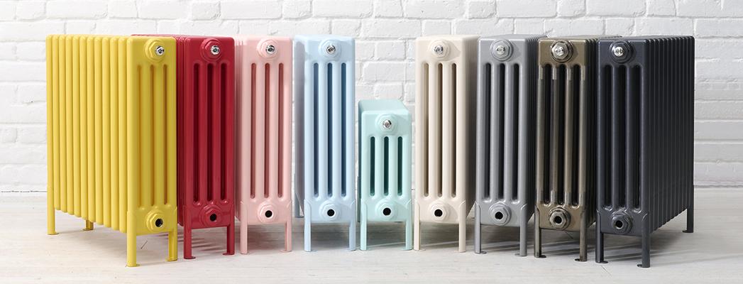 фото напольных цветных трубчатых радиаторов